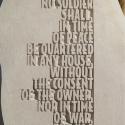 AMENDMENT III - Text close-up