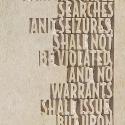 AMENDMENT IV - Text close-up