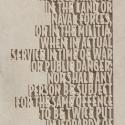 AMENDMENT V- Text close-up